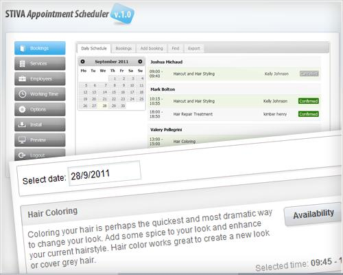 Stiva Appointment Scheduler full screenshot
