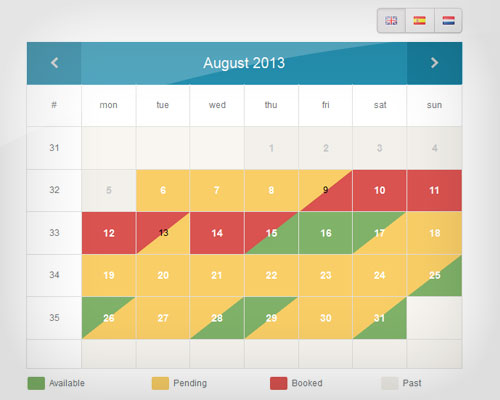Windows 7 Availability Booking Calendar 4.0 full