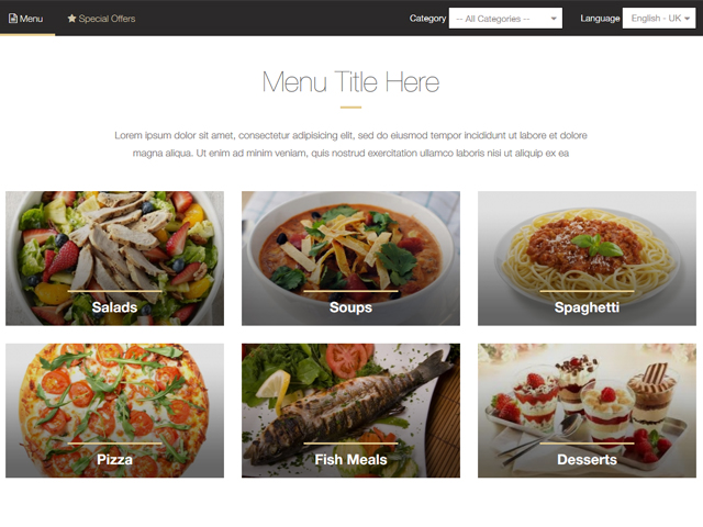 Add an online menu maker to your website!